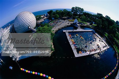 Cinesphere and Bumper Boats Ontario Place Toronto, Ontario, Canada Stock Photo - Rights-Managed, Image code: 700-00152093