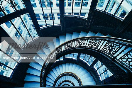 Staircase, Chicago, Illinois, USA Stock Photo - Rights-Managed, Image code: 700-00155631