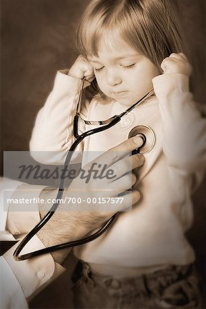 Young Girl with Stethoscope