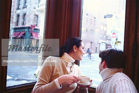 Couple in a Cafe Soho, New York, USA Stock Photo - Rights-Managed, Image code: 700-00160946