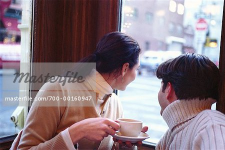 Couple in Cafe Stock Photo - Rights-Managed, Image code: 700-00160947