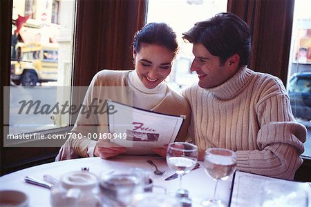 Couple in a Cafe Soho, New York, USA Stock Photo - Rights-Managed, Image code: 700-00160949