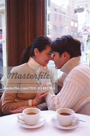 Couple in a Cafe Soho, New York, USA Stock Photo - Rights-Managed, Image code: 700-00160950