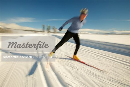 Woman Cross Country Skiing Stock Photo - Rights-Managed, Image code: 700-00161274