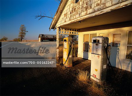 Abandoned Gas Station Stock Photo - Rights-Managed, Image code: 700-00162247