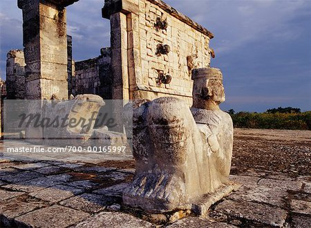Chac Mool Temple of the Warriors Chichen Itza, Yucatan Mexico