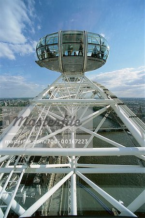 Close-Up of Millennium Wheel London, England Stock Photo - Rights-Managed, Image code: 700-00167223
