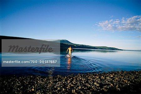 Man Skinny Dipping