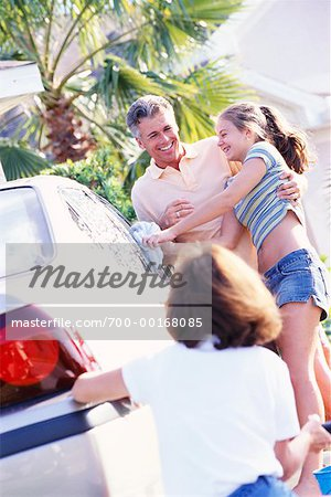 Family Washing Car Stock Photo - Rights-Managed, Image code: 700-00168085