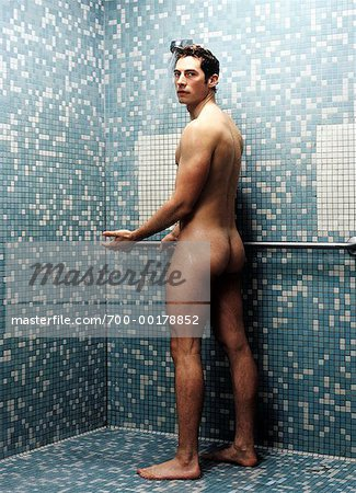 Man Taking Shower
