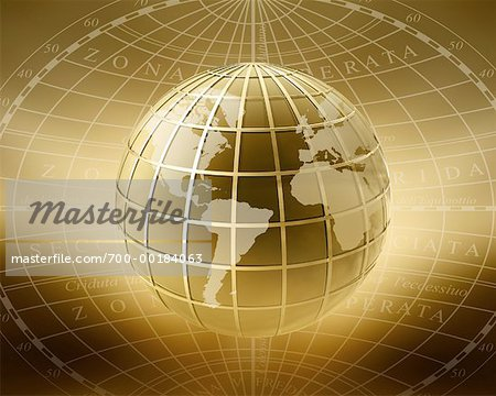 Globe Displaying North and South America, Europe and Africa Stock Photo - Rights-Managed, Image code: 700-00184063