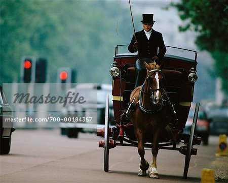 Horse-Drawn Carriage on Street The Mall, London, England Stock Photo - Rights-Managed, Image code: 700-00184357