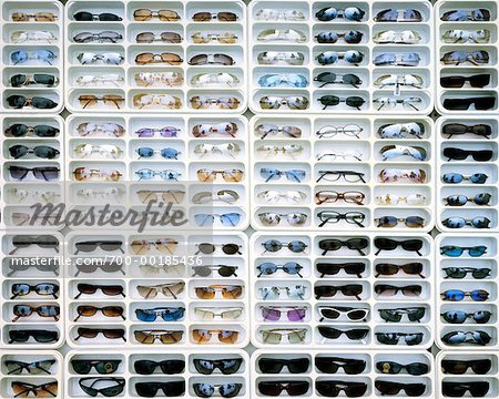 Sunglasses Rack  rack of sunglasses venice beach venice california usa stock