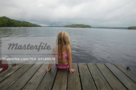 Girl on a Dock Stock Photo - Rights-Managed, Image code: 700-00188078