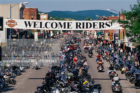 Harley Davidson Rally Sturgis, South Dakota, USA Stock Photo - Rights-Managed, Image code: 700-00189341