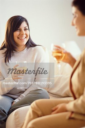 Women Drinking Wine Stock Photo - Rights-Managed, Image code: 700-00193395