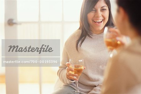 Women Drinking Wine Stock Photo - Rights-Managed, Image code: 700-00193396