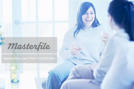 Women Drinking Wine Stock Photo - Rights-Managed, Image code: 700-00193399