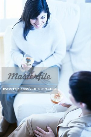 Women Drinking Wine Stock Photo - Rights-Managed, Image code: 700-00193400
