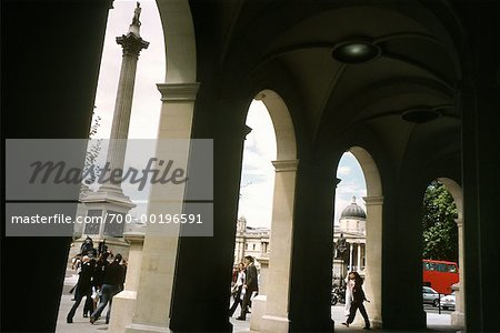 Trafalgar Square From Under Arcade, London, England Stock Photo - Rights-Managed, Image code: 700-00196591