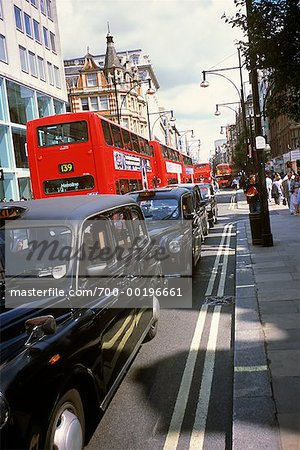 Taxis and Buses on Oxford Street London, England Stock Photo - Rights-Managed, Image code: 700-00196661