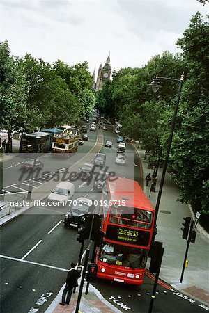 Traffic on Victoria Embankment London, England Stock Photo - Rights-Managed, Image code: 700-00196715