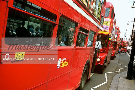 Row of Double Decker Bus London, England Stock Photo - Rights-Managed, Image code: 700-00196731