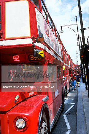 Row of Double Decker Bus London, England Stock Photo - Rights-Managed, Image code: 700-00196732