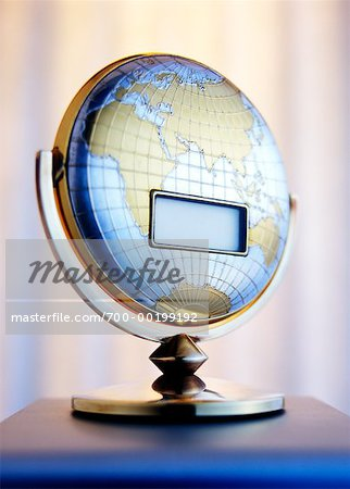 Blank LCD Screen on Globe Stock Photo - Rights-Managed, Image code: 700-00199192