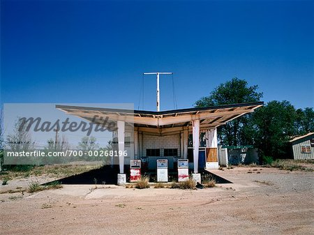 Abandoned Gas Station on Route 66 New Mexico, USA Stock Photo - Rights-Managed, Image code: 700-00268196