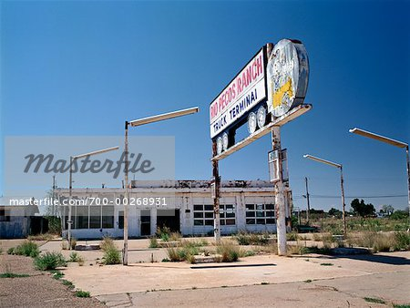 Abandoned Gas Station Route 66, New Mexico, USA Stock Photo - Rights-Managed, Image code: 700-00268931