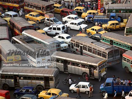 Traffic Congestion Calcutta, India Stock Photo - Rights-Managed, Image code: 700-00268937
