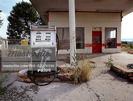 Abandoned Gas Station Route 66, New Mexico, USA Stock Photo - Rights-Managed, Image code: 700-00270590