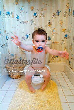 Toddler on Toilet Stock Photo - Rights-Managed, Image code: 700-00284857