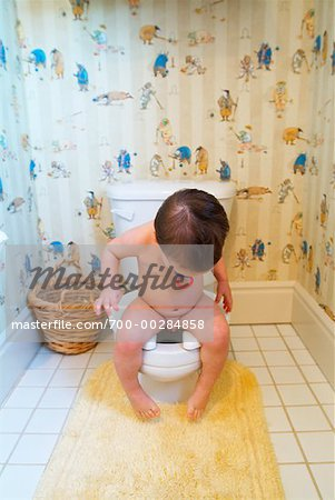 Toddler on Toilet Stock Photo - Rights-Managed, Image code: 700-00284858