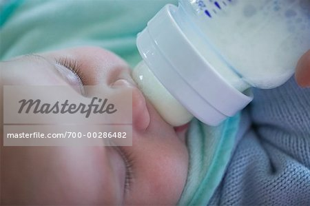 Baby Drinking from Bottle Stock Photo - Rights-Managed, Image code: 700-00286482