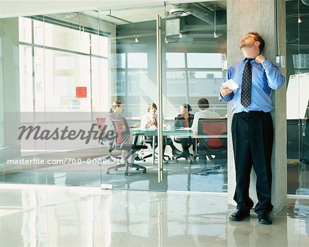 Businessman Nervous Before Presentation Stock Photo - Rights-Managed, Image code: 700-00286716