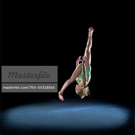 Girl doing Gymnastics Stock Photo - Premium Rights-Managed, Artist