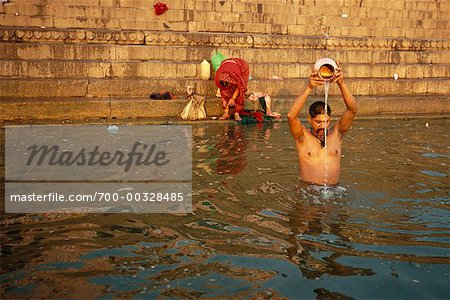 Bathing in Ganges River Varanasi, India Stock Photo - Rights-Managed, Image code: 700-00328485