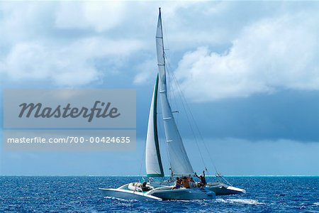 Trimaran Sailboat