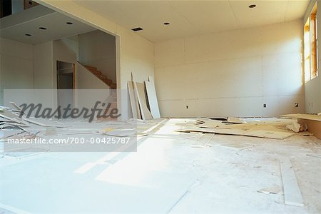 Interior of Building Under Construction - Stock Photo - Masterfile ...