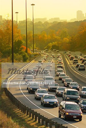Traffic in Autumn, Toronto, Ontario, Canada Stock Photo - Rights-Managed, Image code: 700-00430719