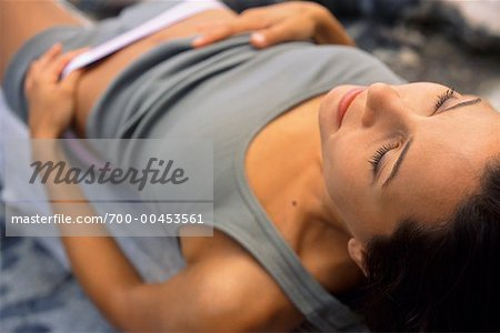 Woman Lying Down Outdoors Stock Photo - Rights-Managed, Image code: 700-00453561