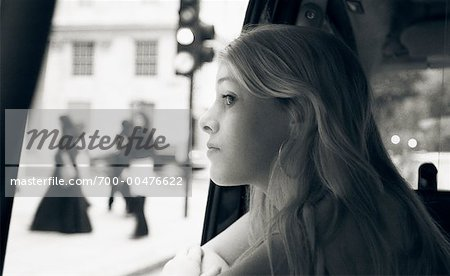 Girl Looking Out at Street, Mayfair, London, England Stock Photo - Rights-Managed, Image code: 700-00476622