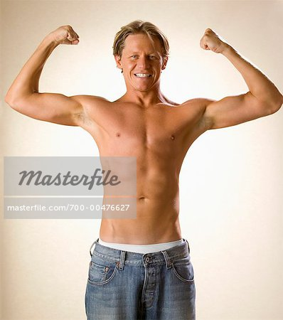 Shirtless Man Posing Stock Photo - Rights-Managed, Image code: 700-00476627
