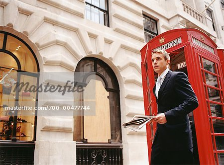 Businessman Outdoors, London, England Stock Photo - Rights-Managed, Image code: 700-00477744
