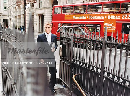 Businessman Descending Stairs to Subway, London, England Stock Photo - Rights-Managed, Image code: 700-00477745