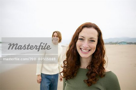 Couple On the Beach Stock Photo - Rights-Managed, Image code: 700-00515069