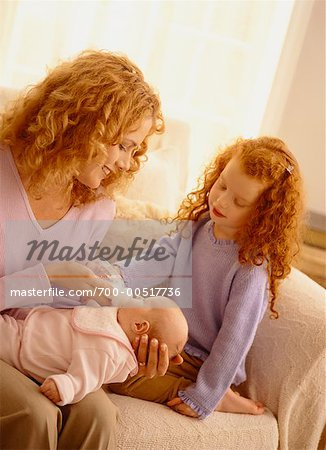 Mother with Baby and Daughter Stock Photo - Rights-Managed, Image code: 700-00517736