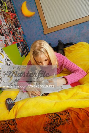 Girl Doing Homework Stock Photo - Rights-Managed, Image code: 700-00519392